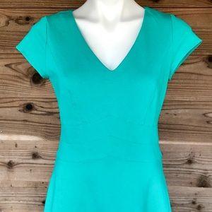 White House Black Market Dresses - ⬇️$39 WHBM Sleeve Ponte Sheath Turquoise Dress 6